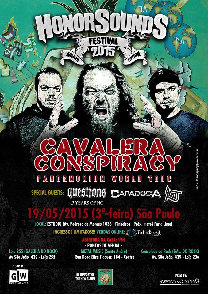 Cavalera Conspiracy: retorna a São Paulo como atração principal do Honorsounds festival