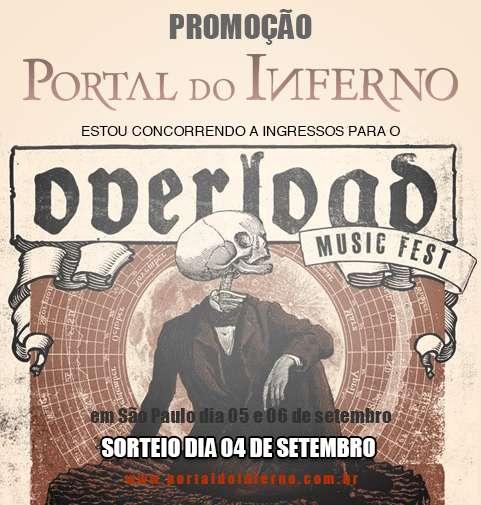PROMOÇÃO: concorra a ingressos para o Overload Music Fest em São Paulo (ENCERRADA)