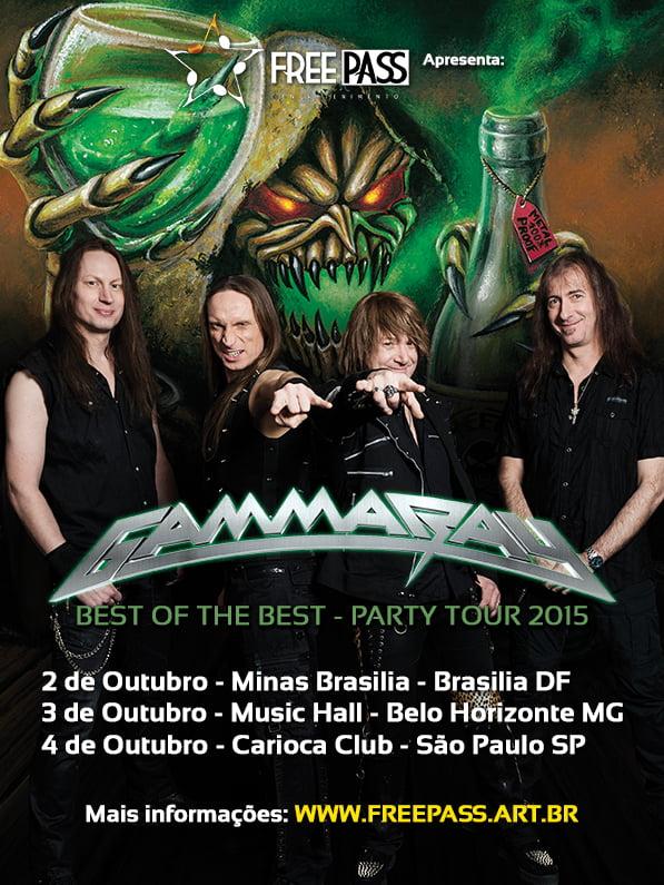 Gamma Ray em São Paulo: terceiro e último lote de ingressos à venda