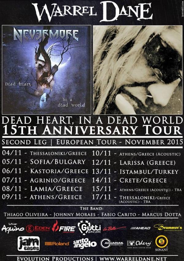 Warrel Dane: tour na Europa com músicos brasileiros