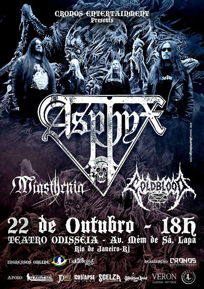 Read more about the article Asphyx – Teatro Odisséia – Rio de Janeiro/RJ