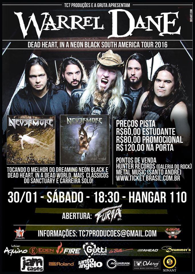 WARREL DANE EM SP