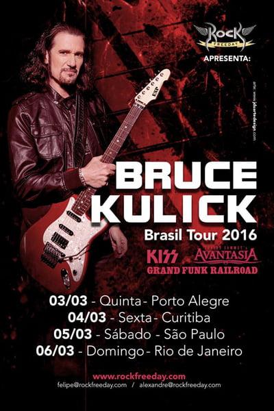 Bruce Kulick: guitarrista convida os fãs para turnê no Brasil