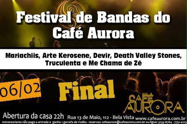 Read more about the article Café Aurora: final do festival de bandas autorais acontece neste sábado (06/02)