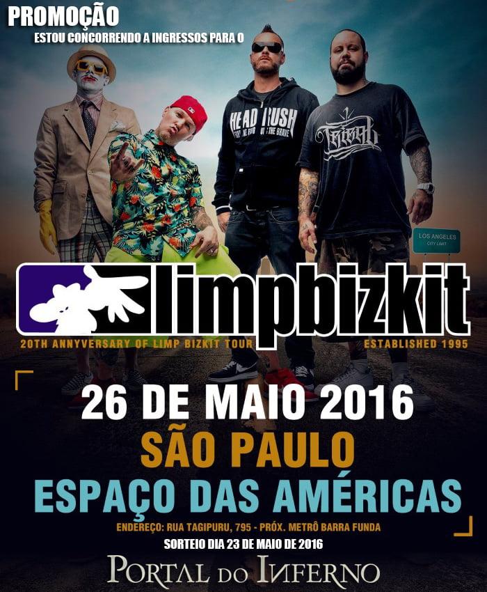 PROMOÇÃO: concorra a ingressos para o show do Limp Bizkit em São Paulo