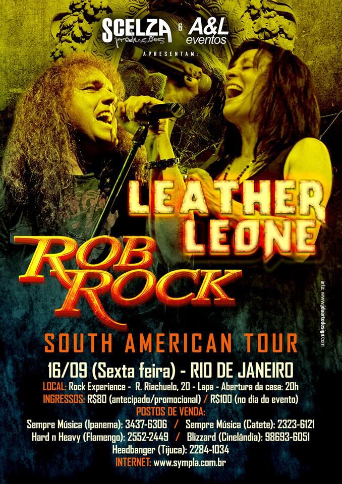 Leather Leone e Rob Rock: Show do Rio de Janeiro tem data alterada