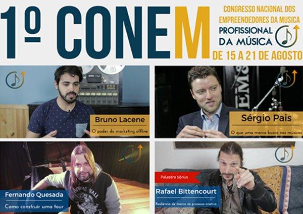 Conem: último dia do congresso conta com palestras de Rafael Bittencourt, Fernando Quesada, Bruno Lacene e Sergio Pais