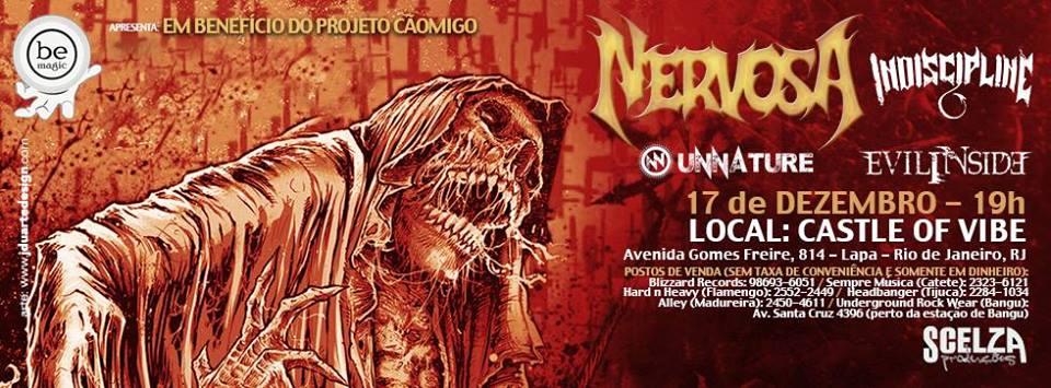 Read more about the article Nervosa: banda faz show no Rio de Janeiro antes de sua nova turnê europeia