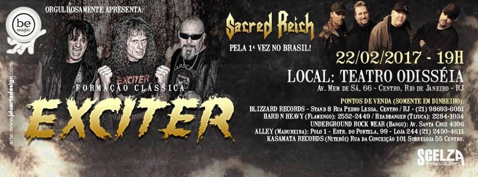 Sacred Reich e Exciter – Teatro Odisséia – Rio de Janeiro/RJ
