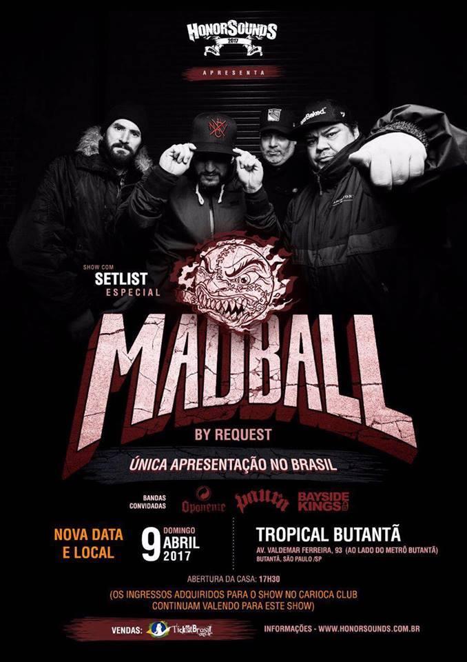 Madball: nova data e local de show em São Paulo são divulgados