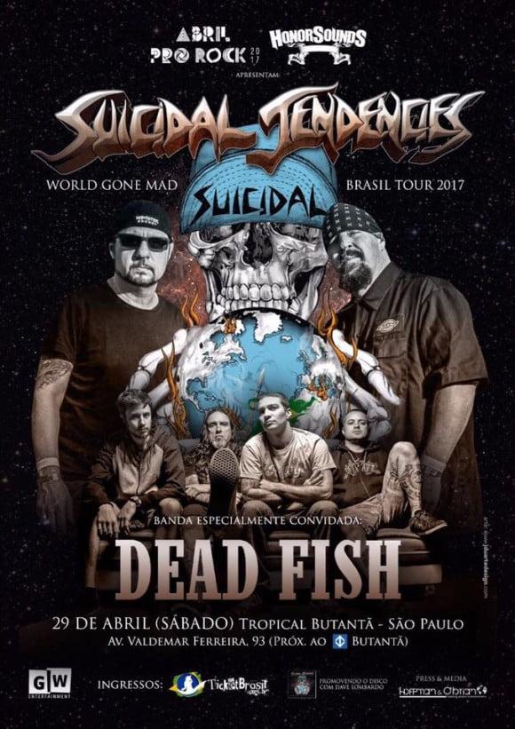 Suicidal Tendencies: Dead Fish é confirmada banda convidada em São Paulo
