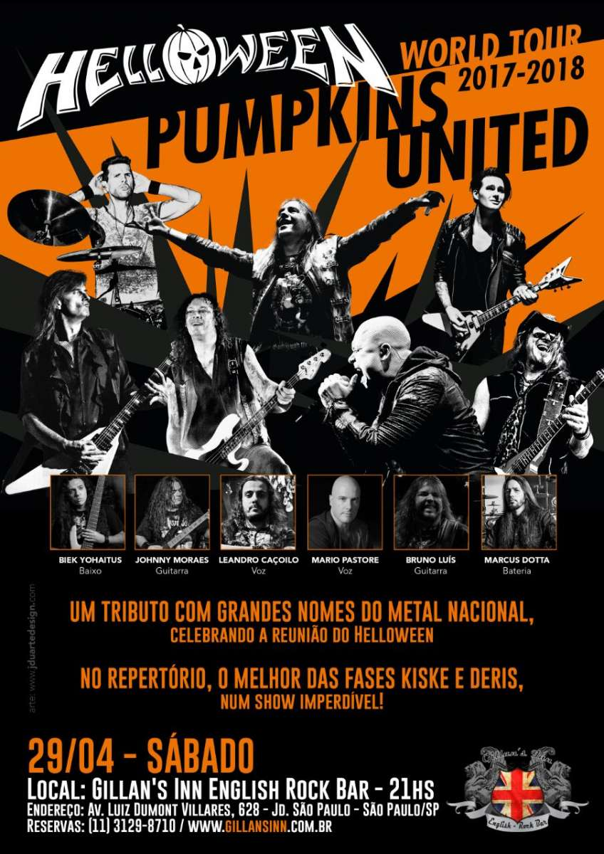 Helloween: tributo com músicos renomados acontece neste sábado no Gillans Inn em São Paulo