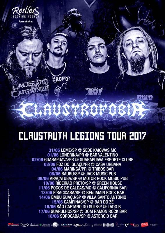 Claustruth Legions Tour 2017