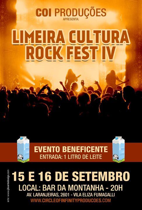 Limeira Cultura Rock Fest IV: música e atividades beneficentes em setembro