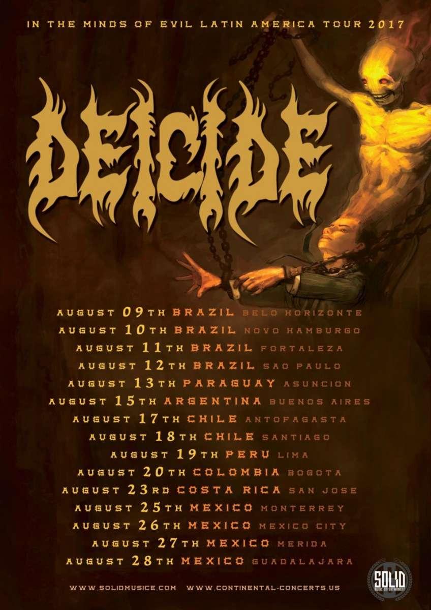 Deicide: show em São Paulo acontece neste final de semana na Clash Club