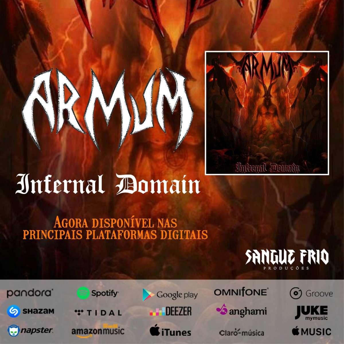 """Armum: """"Infernal Domain"""" já está disponível nas principais plataformas digitais, confira!"""