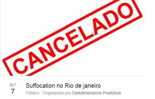Suffocation: cai show do Rio de Janeiro e novas datas são anunciadas