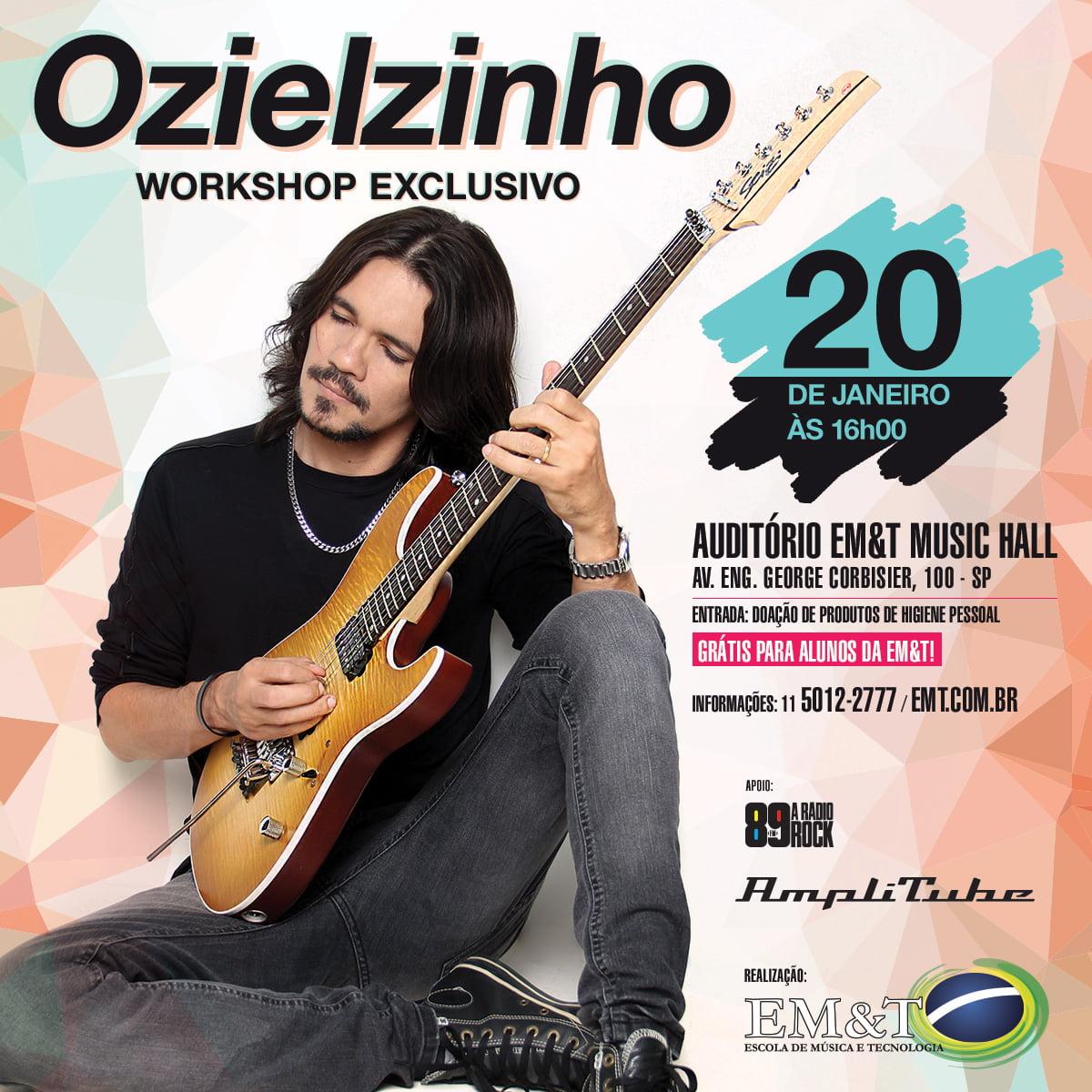 Ozielzinho: guitarrista realiza workshop exclusivo neste sábado na EM&T