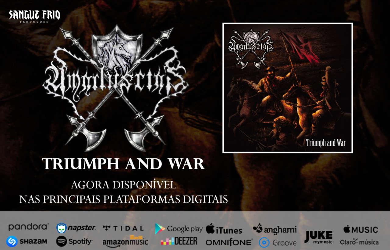 """Amaduscias: """"Triumph And War"""" já está disponível nas principais plataformas de streaming, confira!"""