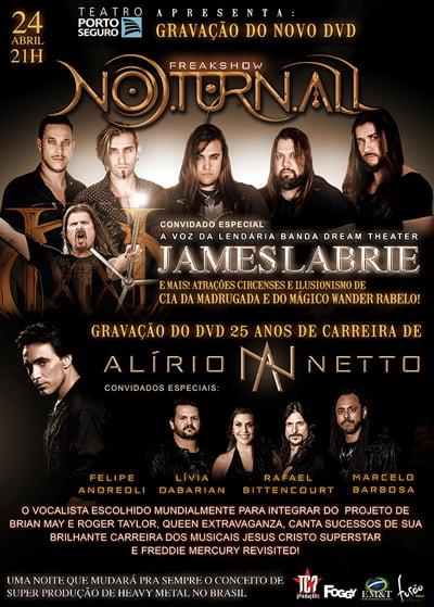 Noturnall anuncia vocalista do Dream Theater e números de ilusionismo em gravação de DVD no Teatro Porto Seguro