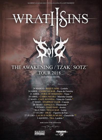 Read more about the article Wrath Sins anuncia turnê com a banda Sotz' em Portugal