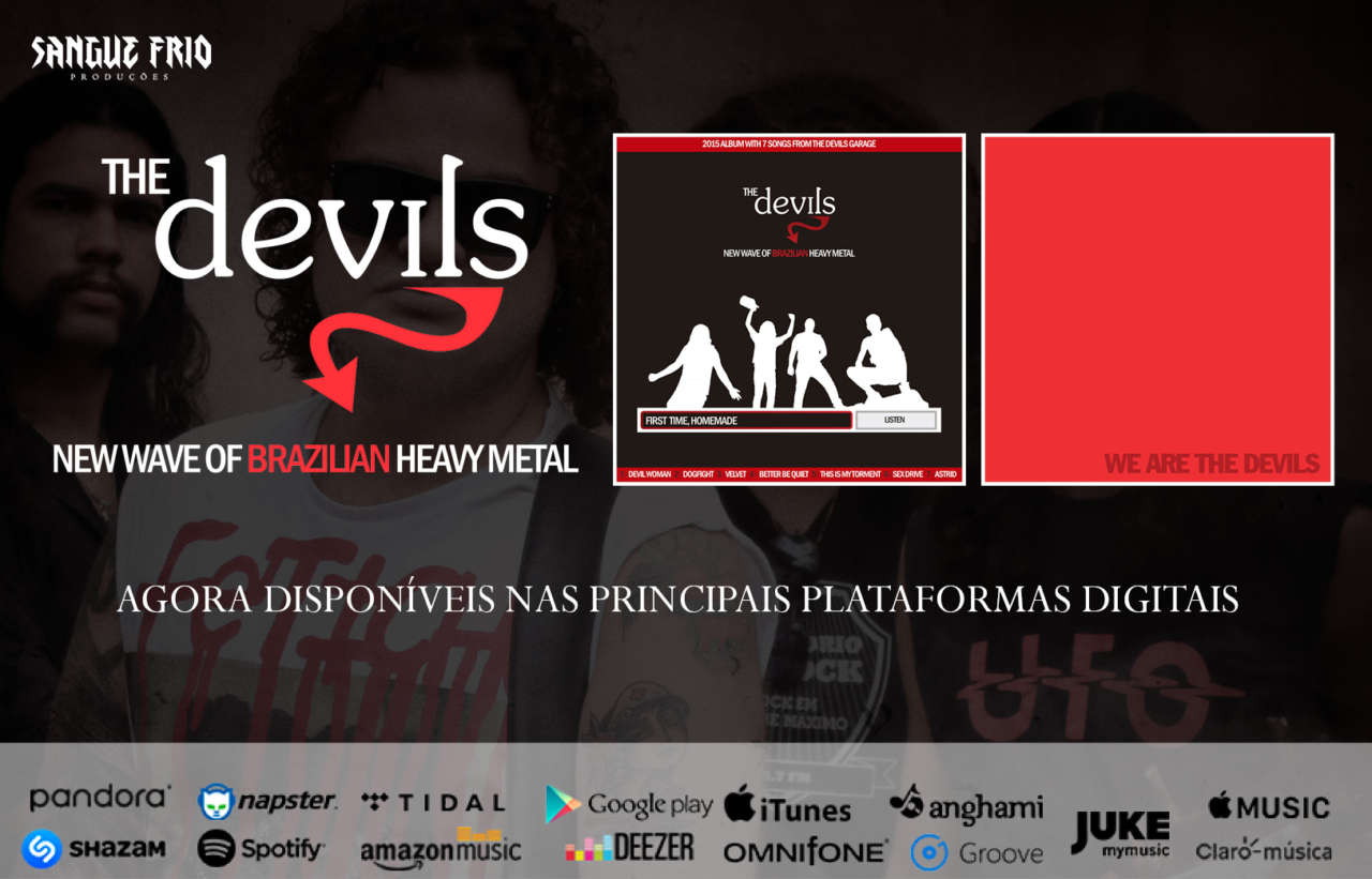 "The Devils: ""First Time, Homemade"" e ""We Are The Devils"" já podem ser encontrados nas principais plataformas digitais!"