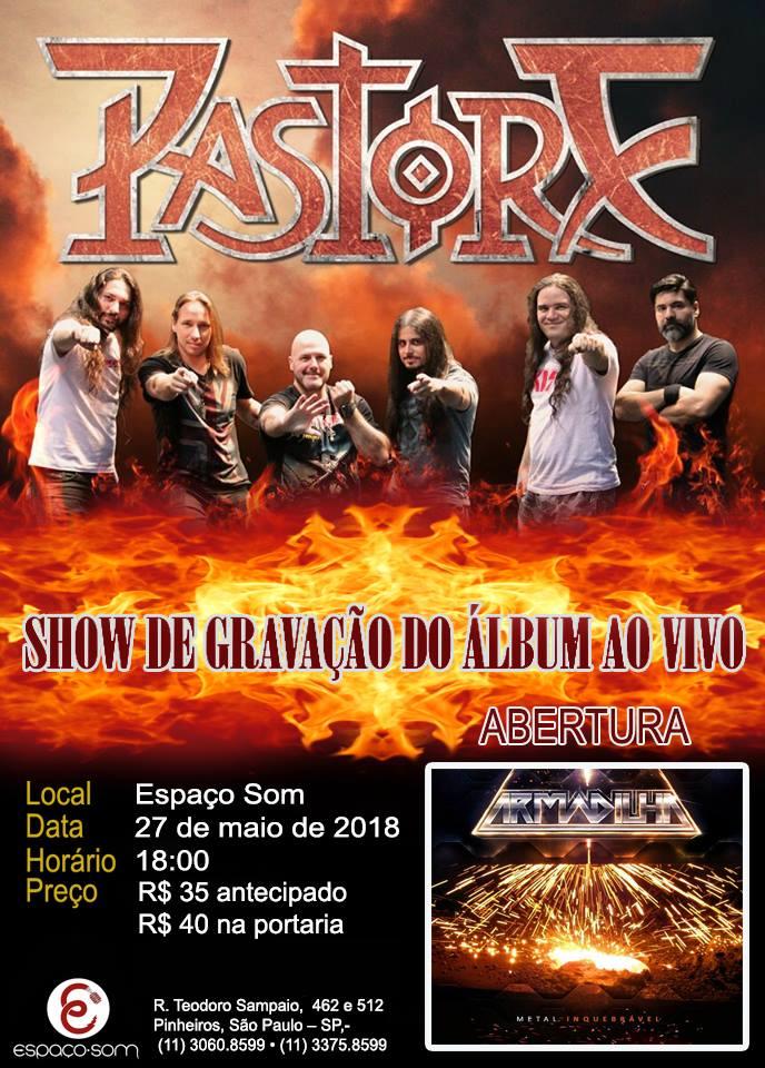 Pastore confirma show de gravação de CD ao vivo em SP no Espaço Som