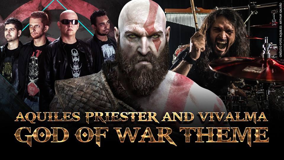 """Aquiles Priester participa de homenagem do Vivalma para o jogo """"God of War"""""""