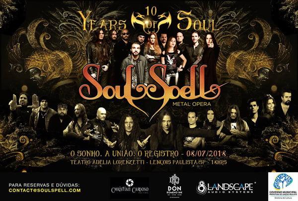 Soulspell Metal Opera confirma gravação de DVD com grandes nomes do Metal nacional