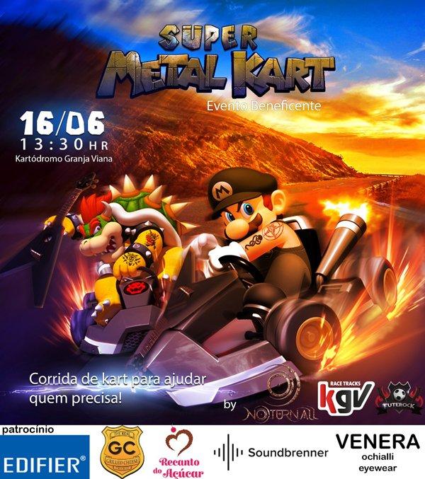 """Noturnall: """"Super Metal Kart"""" une diversos gêneros do Rock e Metal em corrida beneficente neste sábado"""