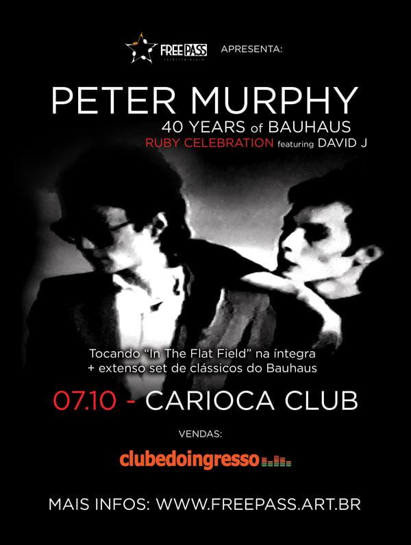 Read more about the article Peter Murphy vem ao Brasil com a turnê de comemoração dos 40 anos da banda Bauhaus e participação especial de David J