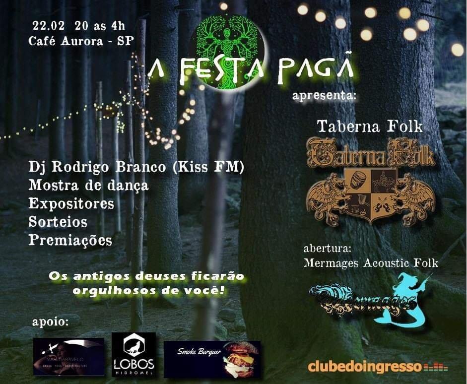Aurora Club confirma Festa Pagã no estilo medieval dia 22 de Fevereiro