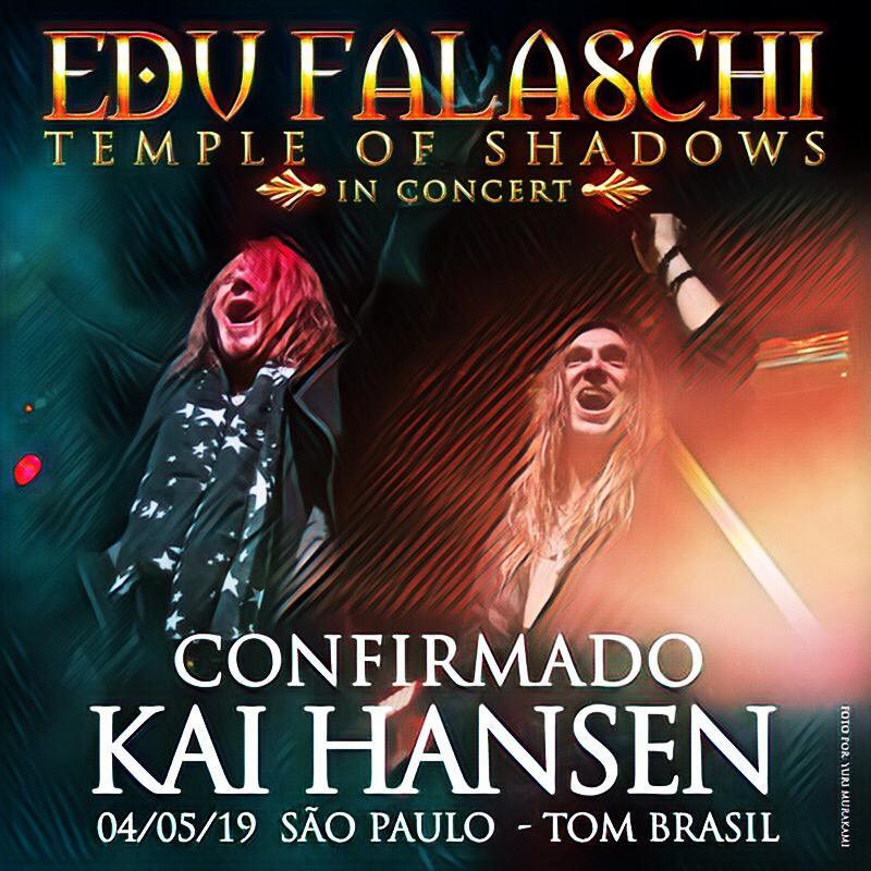 Edu Falaschi confirma Kai Hansen em show de gravação do DVD em São Paulo
