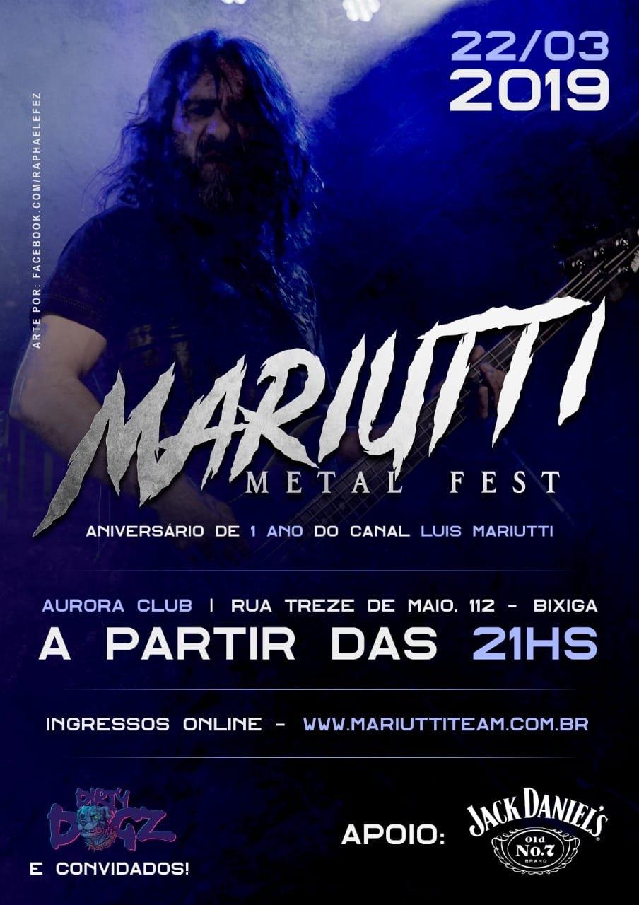 Mariutti Metal Fest: Rafael Bittencourt e Hugo Mariutti confirmam presença em festa no Aurora Club