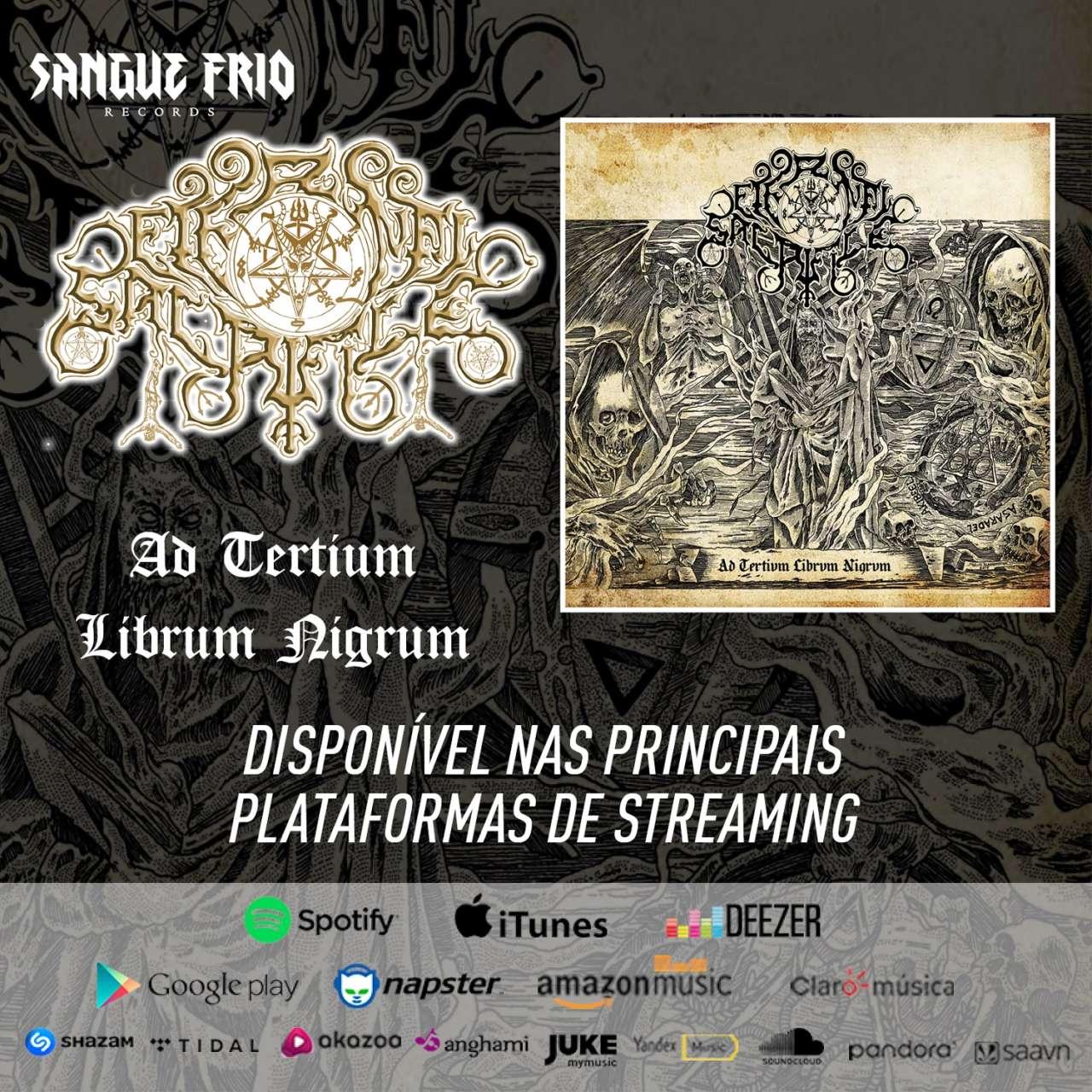 """ETERNAL SACRIFICE: """"Ad Tertium Librum Nigrum"""" já está dentre as principais plataformas de streaming, ouça agora!"""