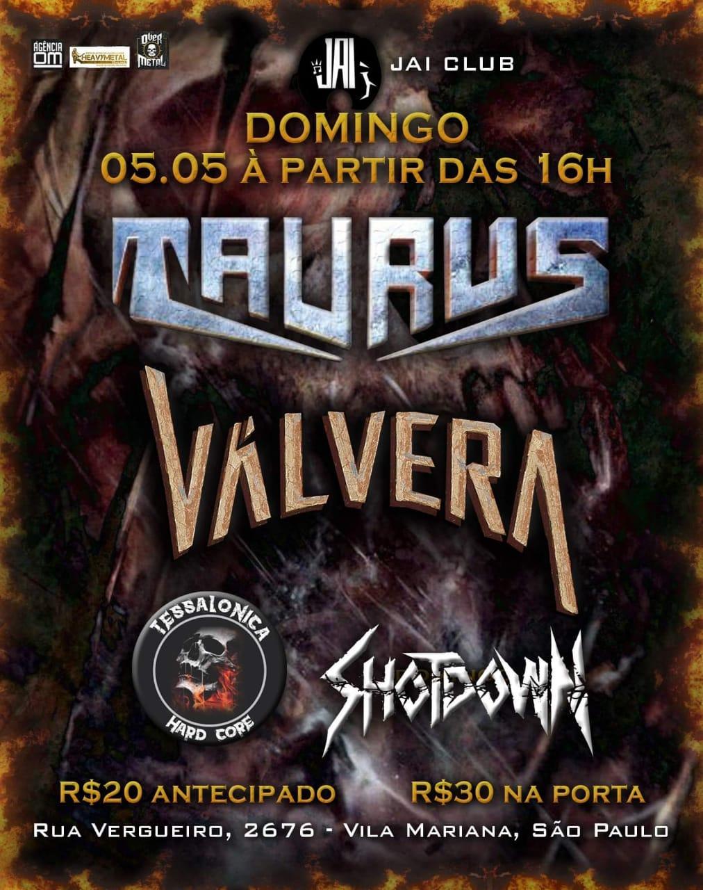 Taurus: Headliner do Metal Day em São Paulo no próximo Domingo dia 05/05