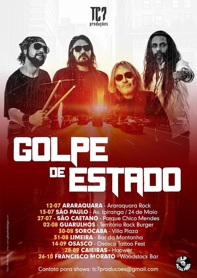 Golpe de Estado: Shows gratuitos em Araraquara e SP nesta semana