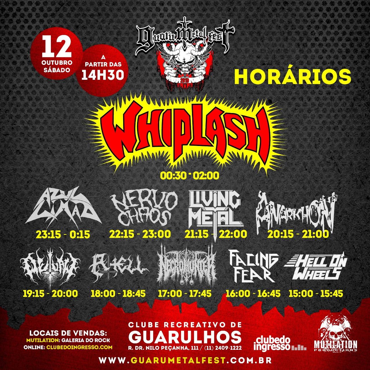 Veja os horários das atrações do Guaru Metal Fest
