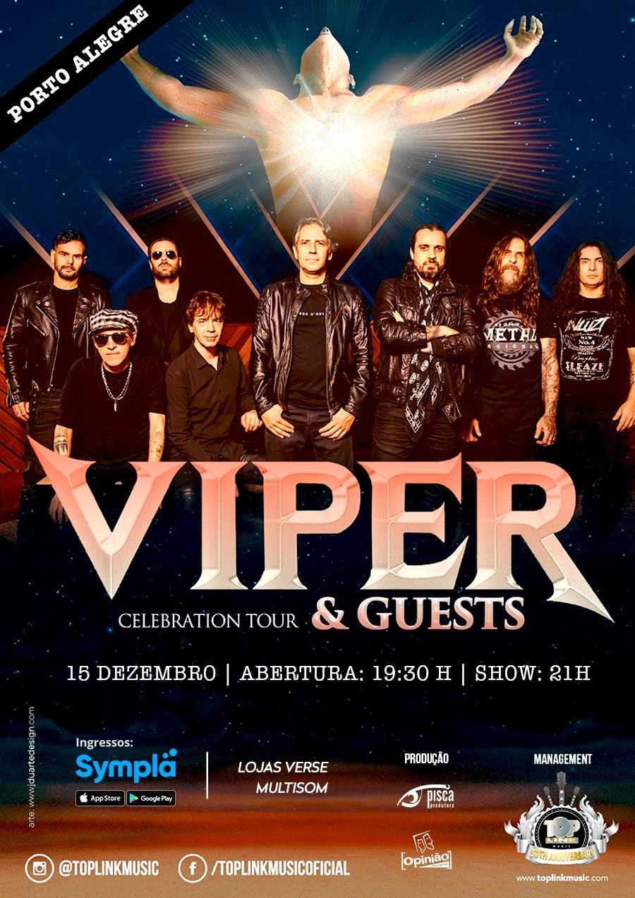 Viper em Porto Alegre: banda confirma show para dezembro