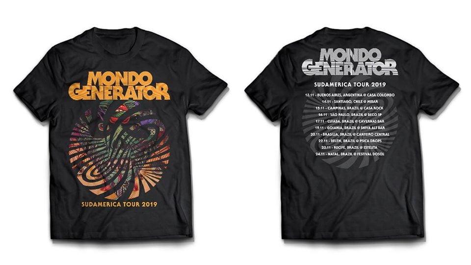Mondo Generator: Camiseta exclusiva à nos shows da turnê Sul Americana.