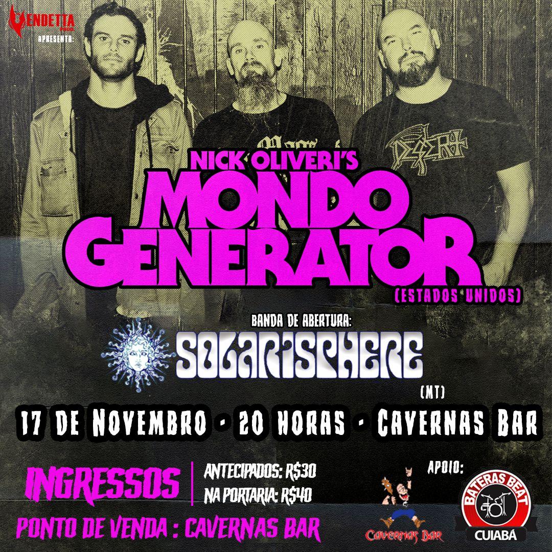 Mondo Generator: Ouça single do novo álbum – show em Cuiabá neste domingo