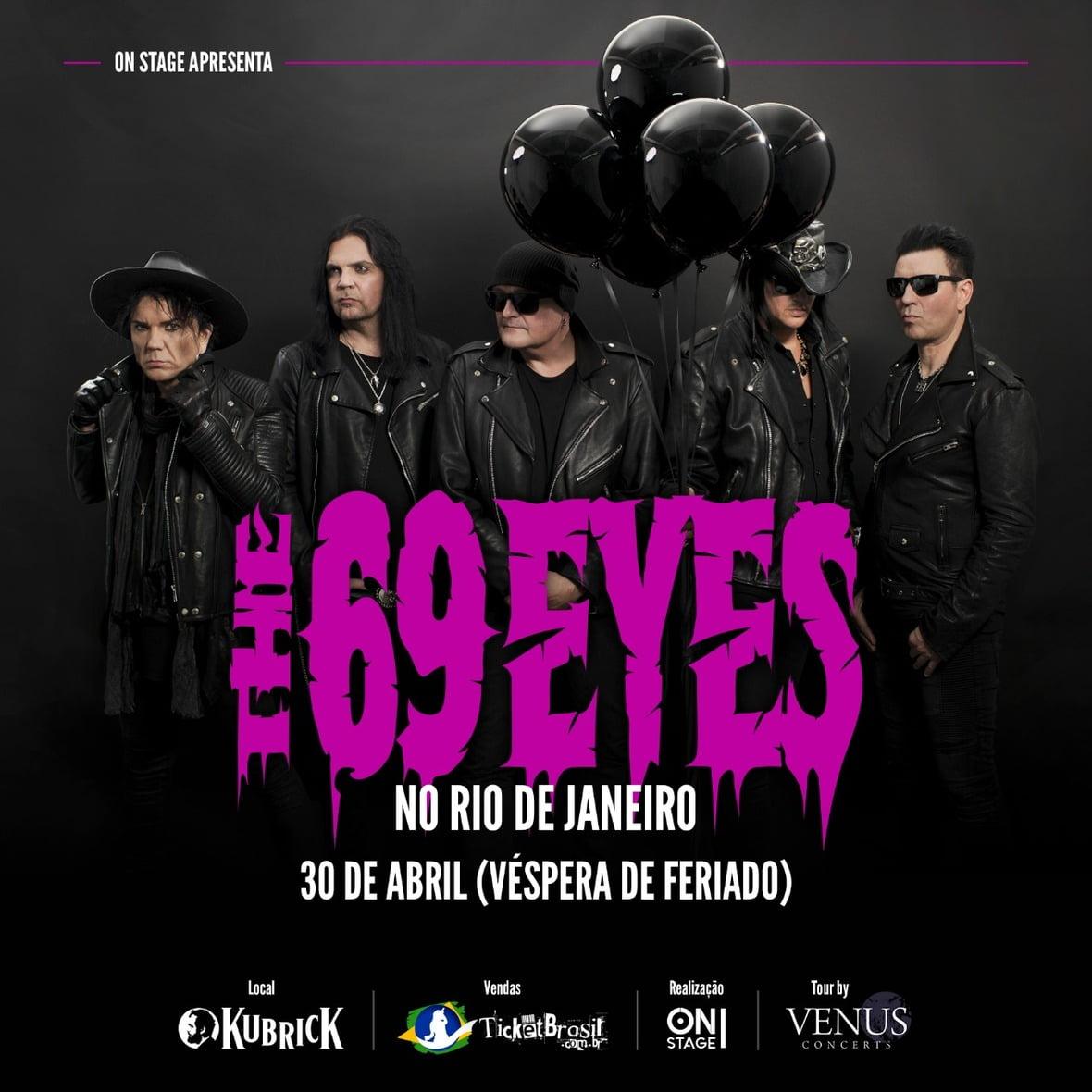 Finlandeses do The 69 Eyes trazem turnê do novo disco ao Rio de Janeiro