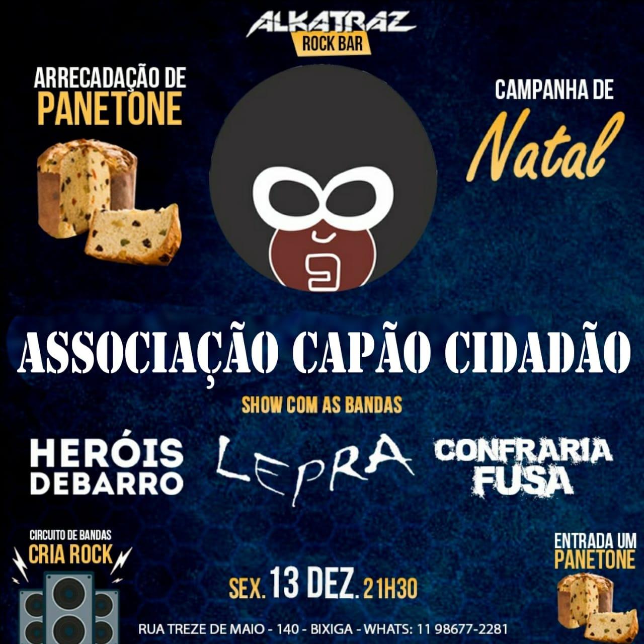 Evento beneficente em São Paulo com muito Rock.