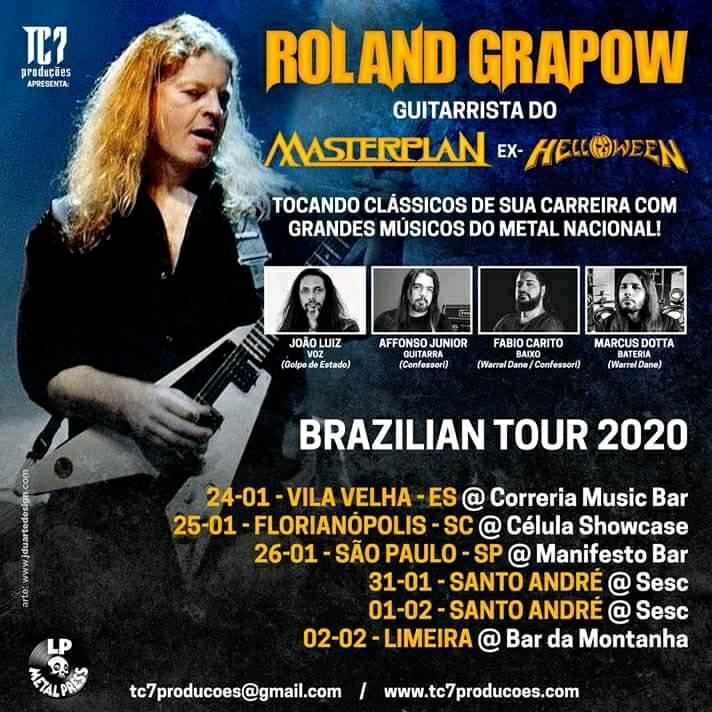 Roland Grapow: Veja as datas que o músico fará no Brasil 2020