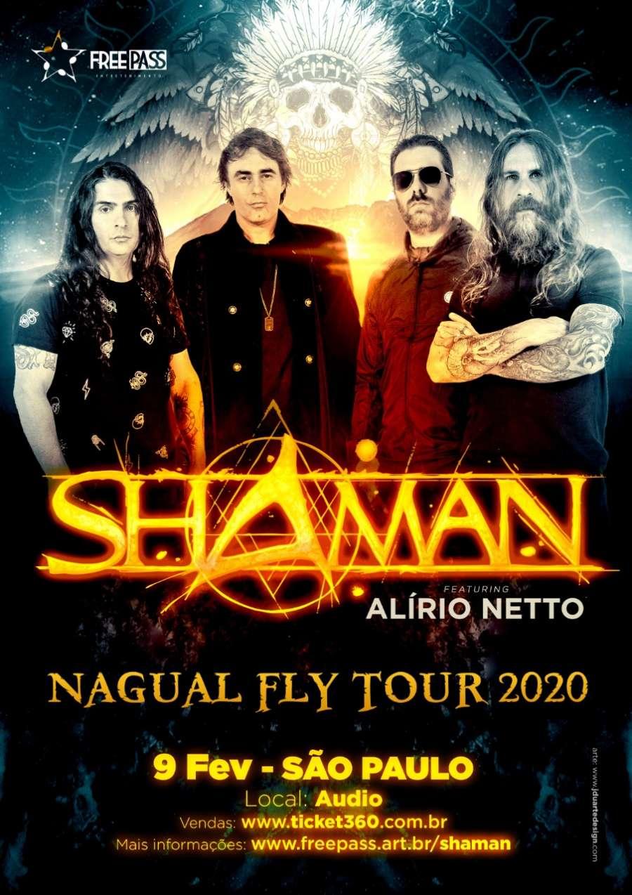 Shaman com Alírio Netto nos vocais retorna aos palcos do RJ
