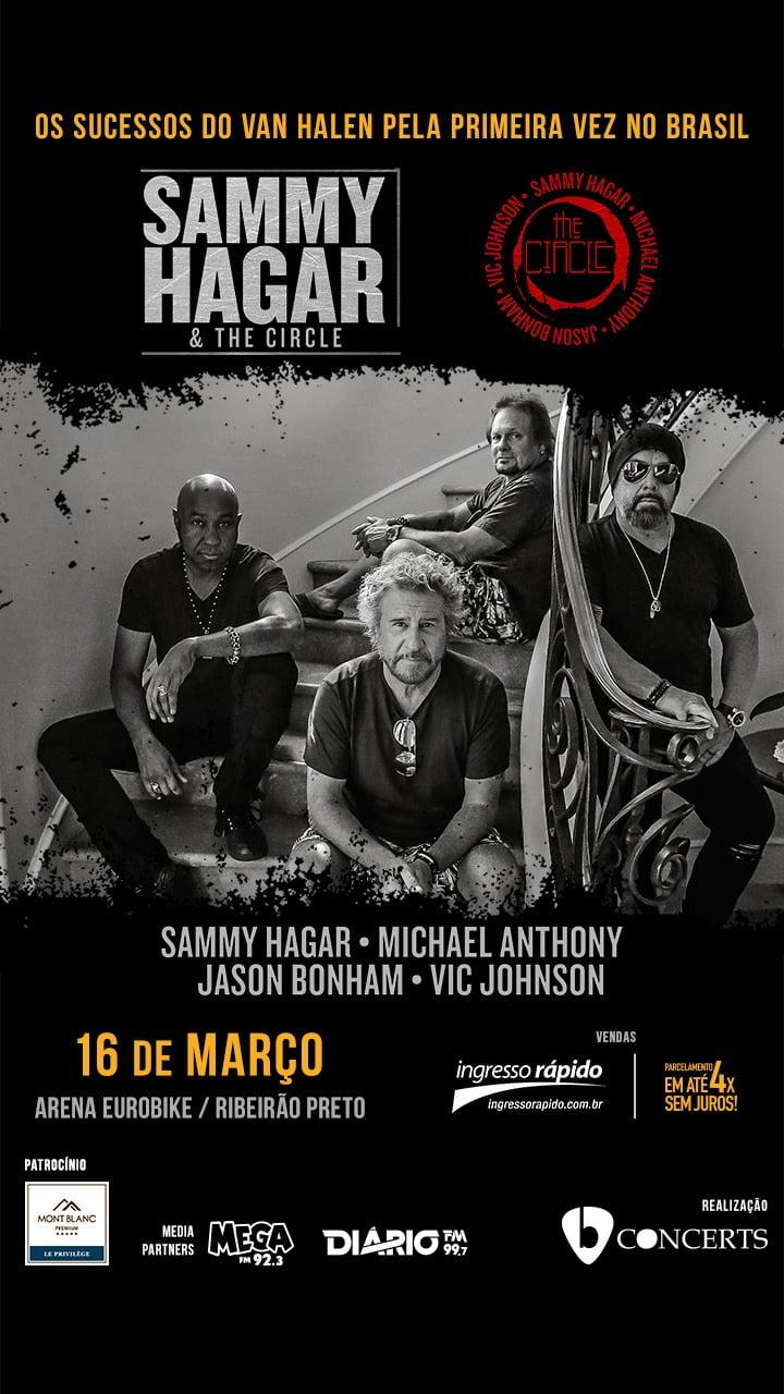 Ingressos para Sammy Hagar & The Circle em Ribeirão Preto já estão à venda