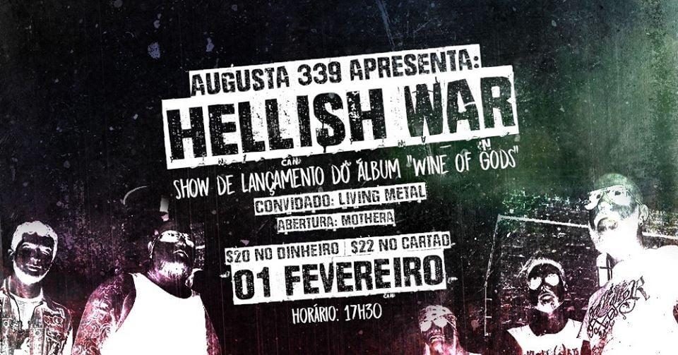 Hellish War lança disco novo no Augusta 339