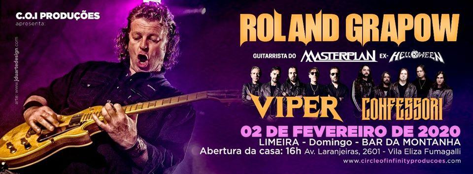 Roland Grapow, Viper e Confessori Band se apresentam em Limeira neste domingo