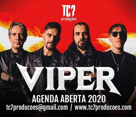 Viper assina com a TC7 Produções para turnê de clássicos e anuncia álbum novo para 2020