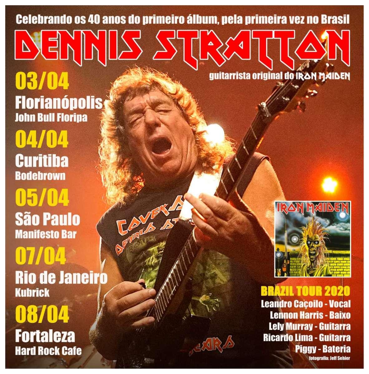 Leandro Caçoilo realizará turnê com Dennis Stratton, ex-Iron Maiden